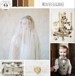 Winter Elegance – Beautiful Winter Wedding Inspiration Board in Coffee, Bronze & Gold