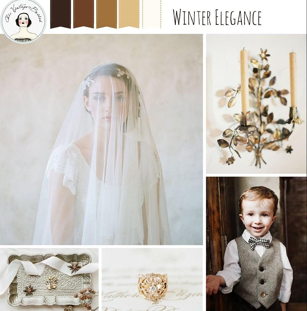 Winter Elegance – Winter Wedding Inspiration in Coffee & Gold : Chic ...