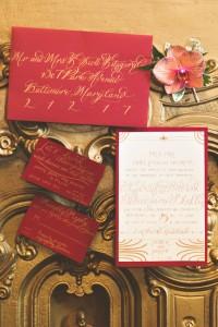 Art Deco Wedding Invitations - A 1920s Speakeasy-Inspired Wedding Styled Shoot