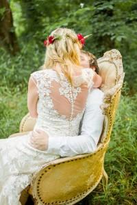 Beautiful Wedding Dress Back - Boho Vintage Wedding Inspiration in Red, Green & Gold
