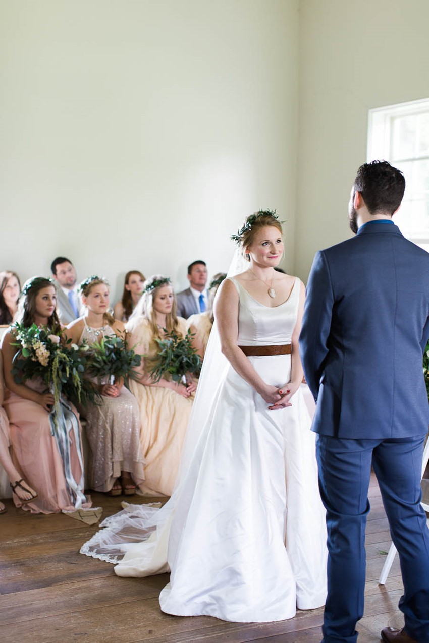 Intimate Wedding Ceremony - A Vintage Americana Wedding