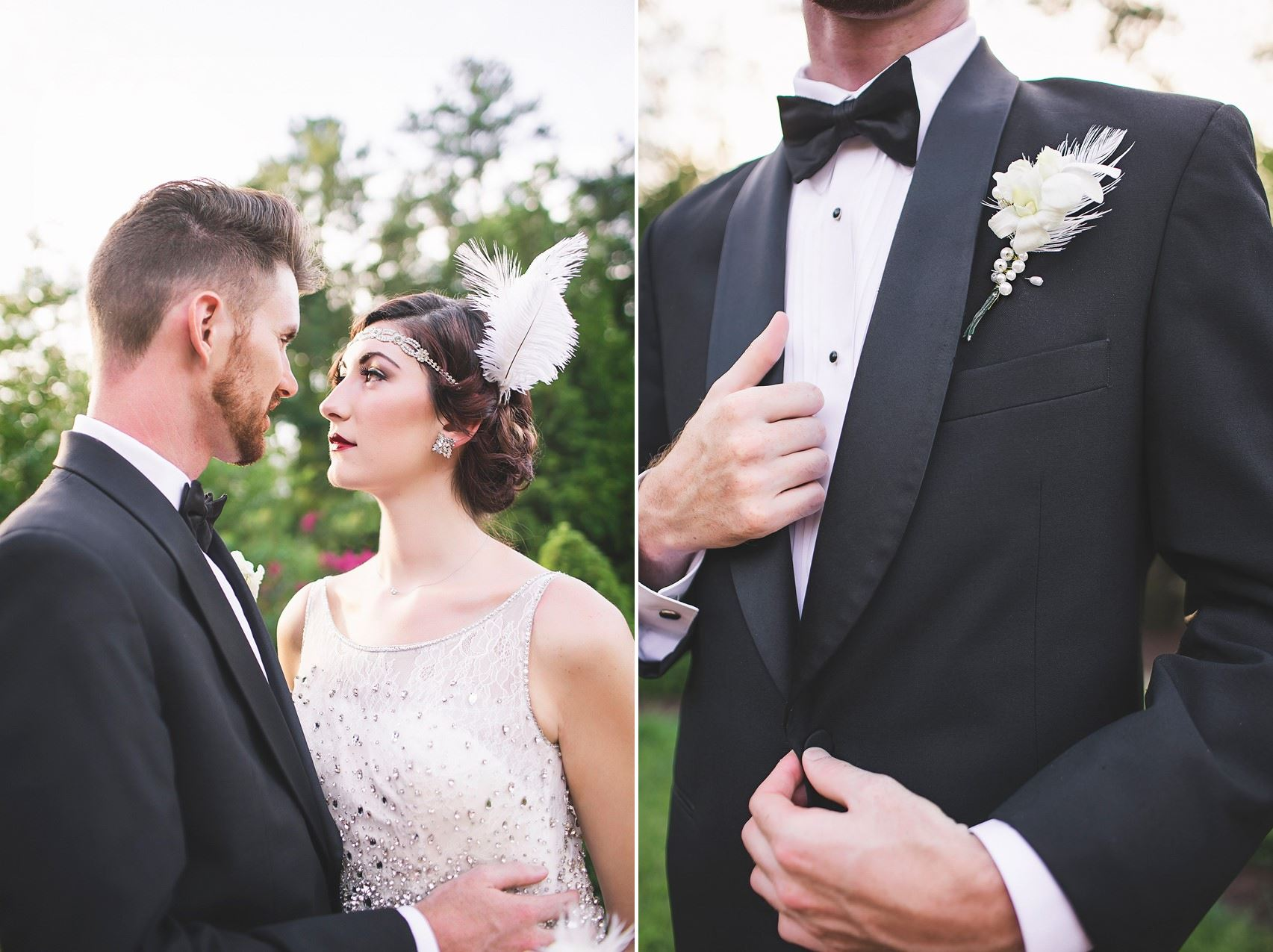 Art Deco Bride & Groom - Glamorous Art Deco Wedding Inspiration