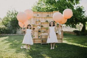 Flowergirls - An Intimate Outdoor Wedding in a Romantic Palette of Pink
