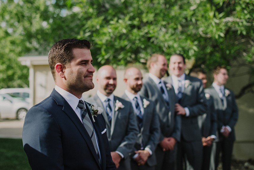Groom & Groomsmen - An Intimate Outdoor Wedding in a Romantic Palette of Pink