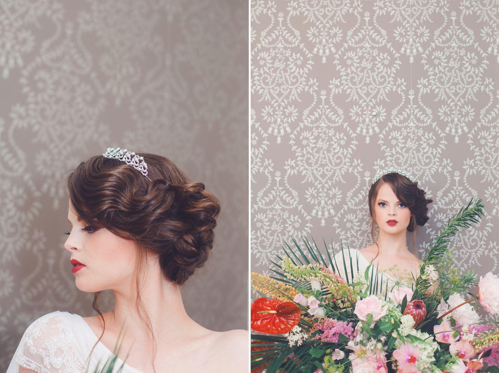 Art Deco Bridal Hair - A 1920s Speakeasy-Inspired Wedding Styled Shoot