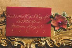 Red Wedding Invitations - A 1920s Speakeasy-Inspired Wedding Styled Shoot