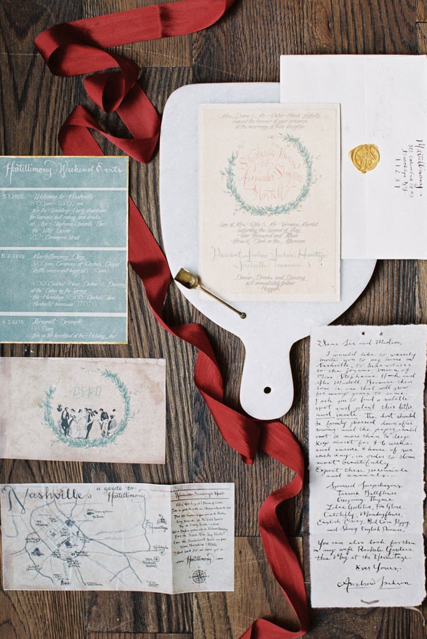 DIY Wedding Invitations - A Vintage Americana Wedding
