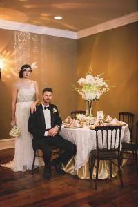 1920s Wedding Reception - Glamorous Art Deco Wedding Inspiration