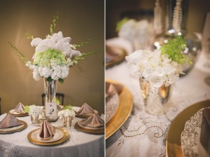 1920s Wedding Tablescape - Glamorous Art Deco Wedding Inspiration