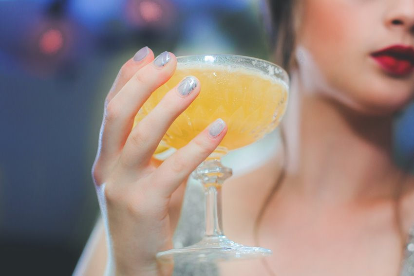 Orange Wedding Cocktail - A 1920s Speakeasy-Inspired Wedding Styled Shoot