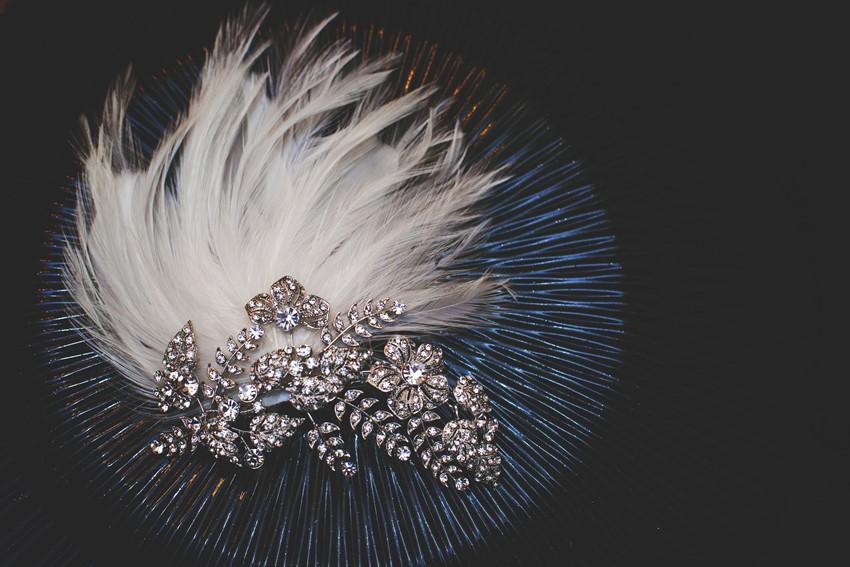 Art Deco Bridal Hair Accessory - A 1920s Speakeasy-Inspired Wedding Styled Shoot