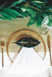 Wedding Placesetting - A Vintage Americana Wedding