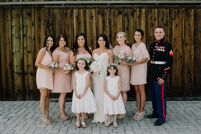 Blush Bridesmaid Dresses - An Intimate Outdoor Wedding in a Romantic Palette of Pink