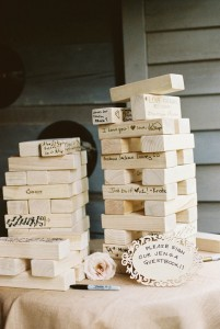 Jenga Wedding guestbook - A Vintage Americana Wedding