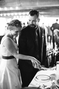 Cutting the Cake - A Vintage Americana Wedding