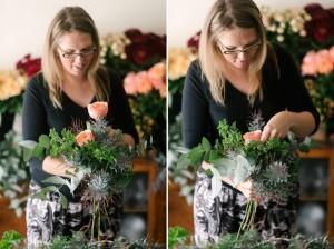 DIY Bouquet Steps - An Organic Hand-Tied Bridal Bouquet in Blush, Peach & Marsala