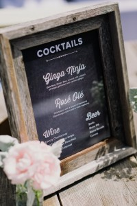 Signature Wedding Cocktails - An Intimate Outdoor Wedding in a Romantic Palette of Pink