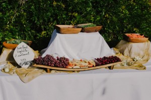 Wedding Food - An Intimate Outdoor Wedding in a Romantic Palette of Pink