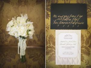 Art Deco Wedding Invitations - Glamorous Art Deco Wedding Inspiration