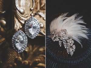Art Deco Bridal Accessories - A 1920s Speakeasy-Inspired Wedding Styled Shoot