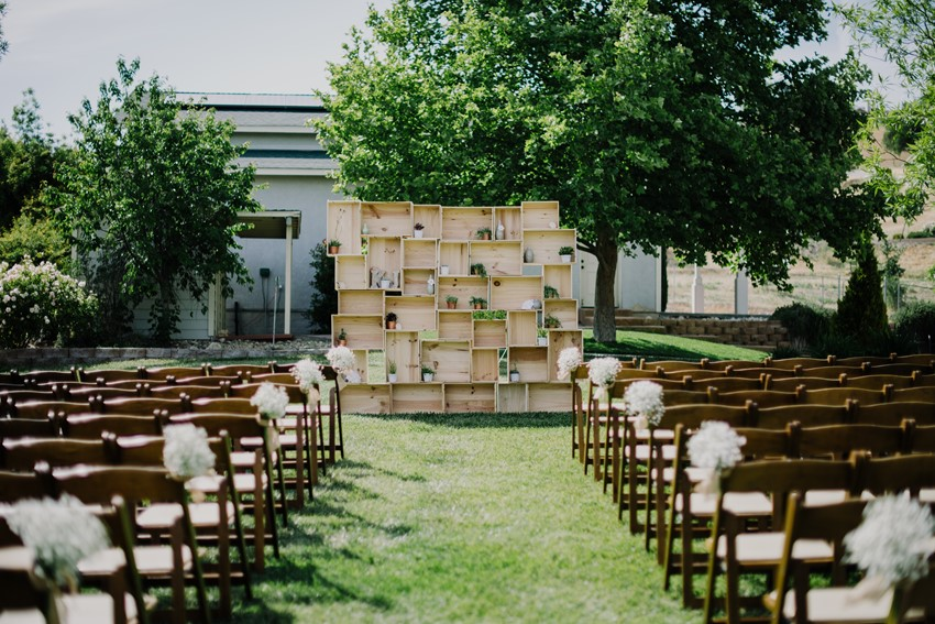 DIY Outdoor Wedding Ceremony Backdrop An Intimate In A Romantic Palette Of Pink