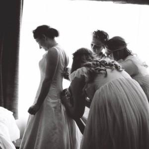 Bride Getting Ready - A Vintage Americana Wedding