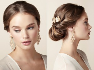 Blush Cascade Bridal Earrings - The Beautiful New Collection of Bridal Hair Accessories & Jewelry from Elizabeth Bower