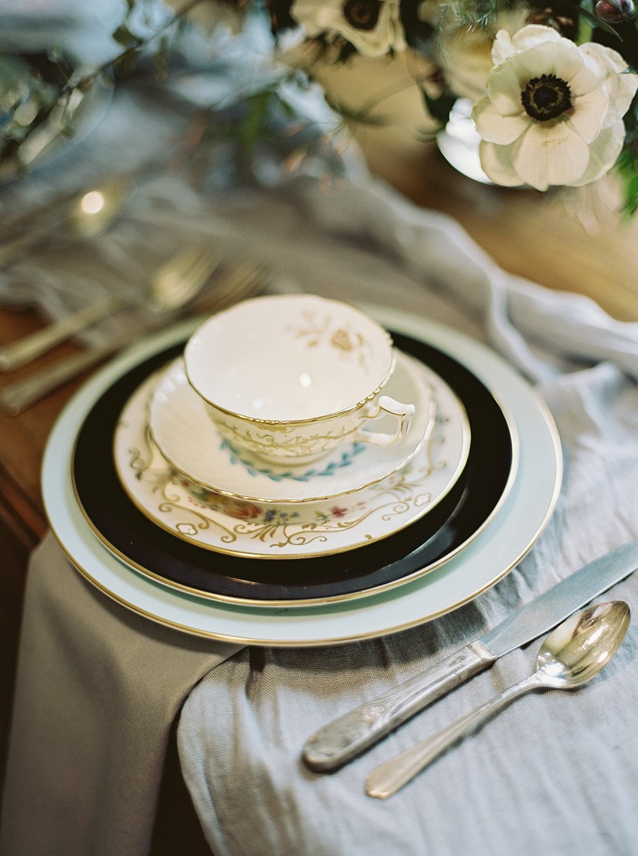 Vintage Wedding Place Setting - Fine Art Wedding Inspiration