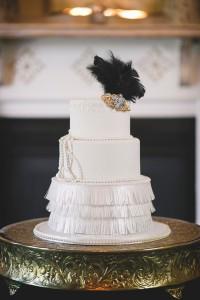Art Deco Wedding Cake - Glamorous Art Deco Wedding Inspiration