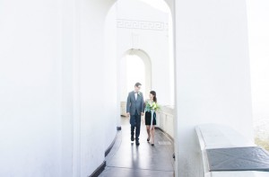 An Art Deco Inspired Griffith Observatory Engagement Shoot