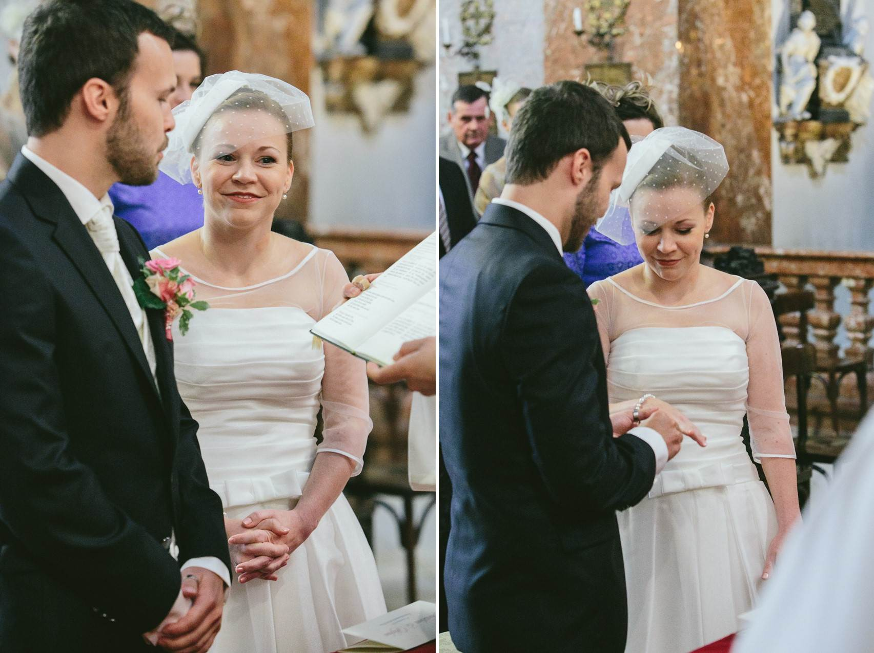 Wedding Ceremony - A Sweet 1950s Infused Wedding with a Jackie Kennedy Inspired Wedding Dress