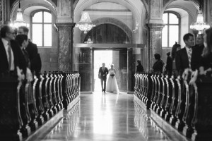 Church Wedding - A Sweet 1950s Infused Wedding with a Jackie Kennedy Inspired Wedding Dress