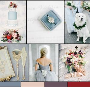 Winter Berry Wedding Inspiration Board from Bajan Wed