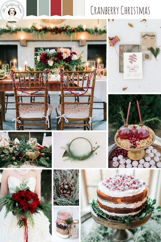 Cranberry Christmas - Wedding Inspiration in a Traditional Christmas Colour Palette