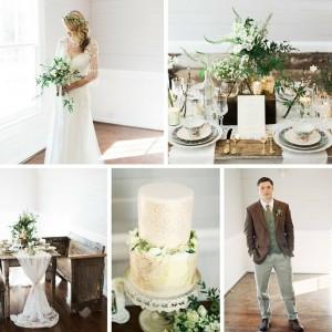 Elegant Rustic Winter Wedding Inspiration
