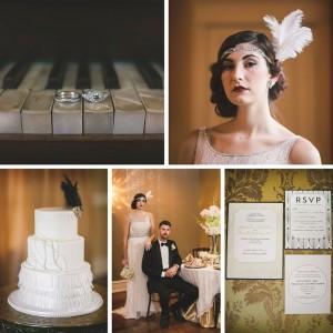 Glamorous Art Deco Wedding Inspiration Shoot