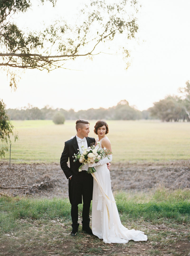 Art Deco Bride & Groom by Katie Grant Photography