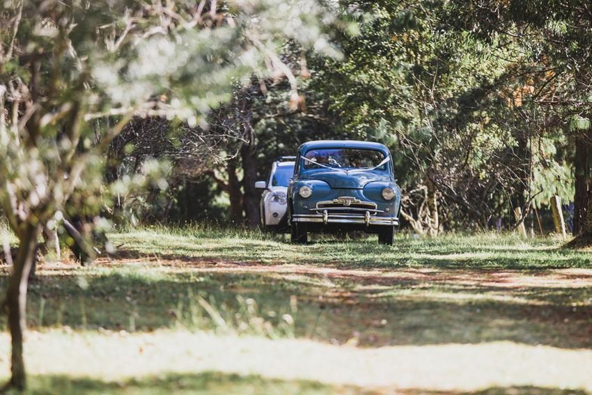 Blue 1950s Vintage Car