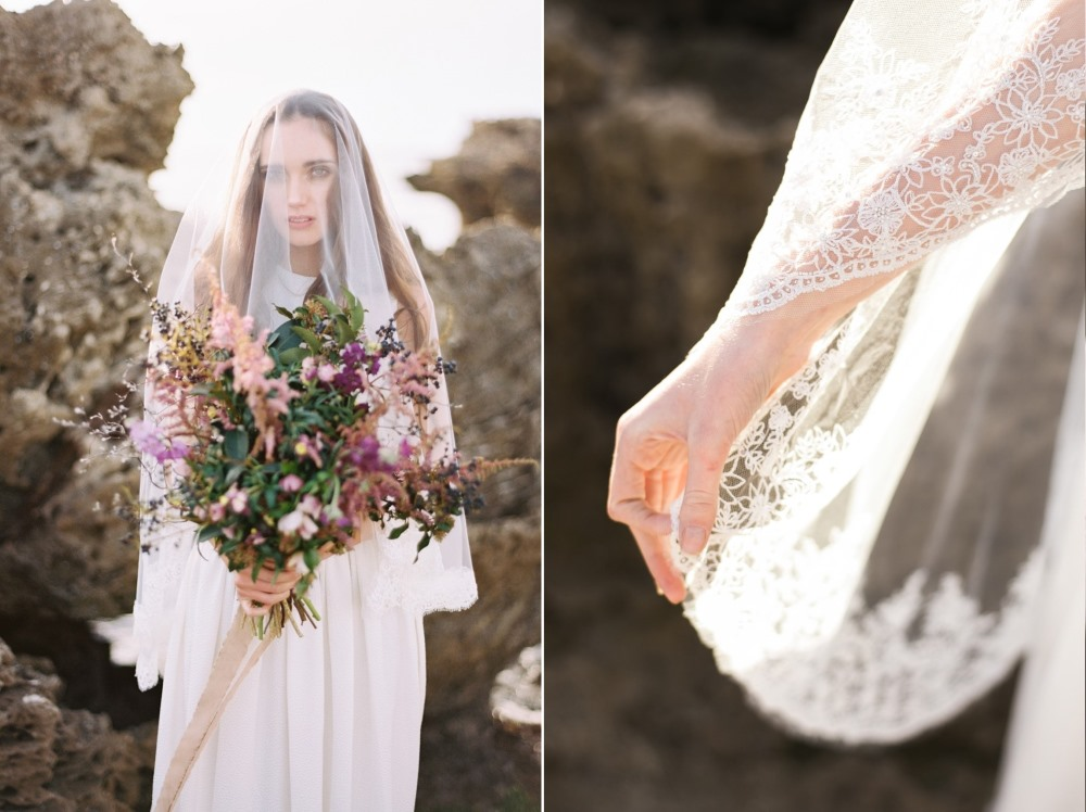 Lovely lace edged bridal veil