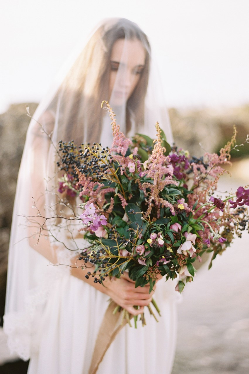 Beautiful organic bridal bouquet