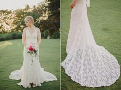 Lace wedding dress for a destination wedding