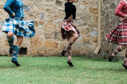 Traditional Scottish Dancers at a Wedding