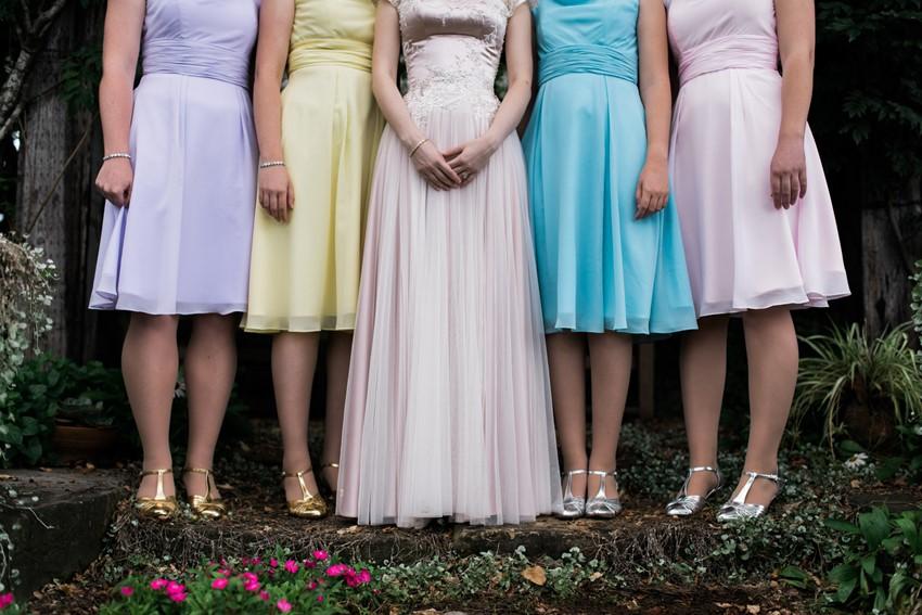 Vintage Inspired Bride & Bridesmaids