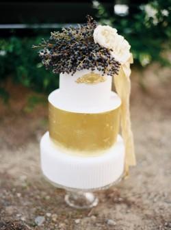 Gilded Wedding Cake