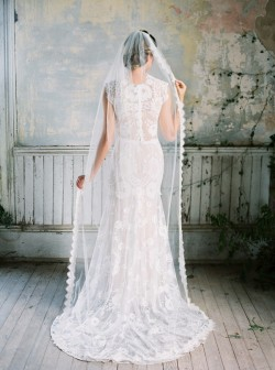 Beautiful Backed Wedding Dress from Claire Pettibone