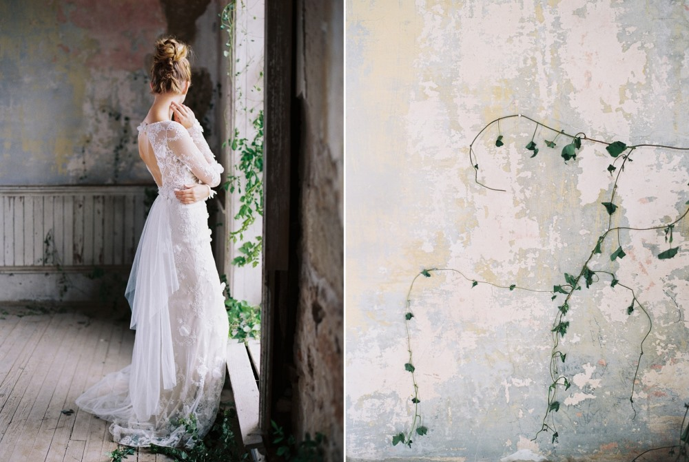 Prairie Rose - Long sleeve wedding dress from Claire Pettibone