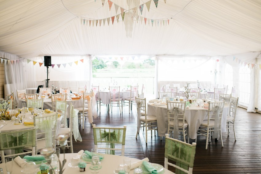 Marquee Reception with Bunting