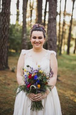 Bright foraged bridal bouquet