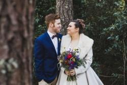Woodland bride & groom portraits