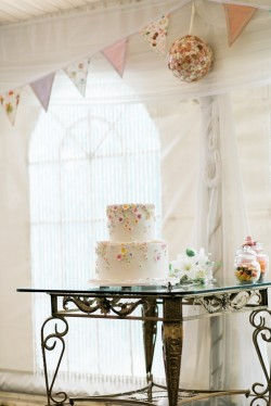 Dainty Floral Wedding Cake